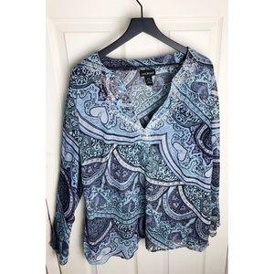 Lane Bryant 18 20 boho gypsy blouse